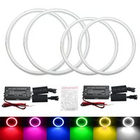 Wholesale Special Drl - LEEWA 4pcs Set Special Car Headlight CCFL Halo Rings Angel Eyes Light for BYD F3 DRL 6-Color #3396