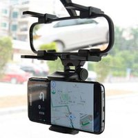 iphone spiegelhalterung großhandel-Für Iphone 7 Auto-Berg-Auto-Halter-Universalrückspiegel-Spiegel-Handy GPS-Halter Stand-Wiegen-Auto-LKW-Spiegel mit Kleinpaket