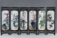 Wholesale classical chinese paintings for sale - Group buy Art Classical Chinese Lacquer Handwork Painting Bird Auspicious Screen Decor