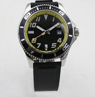 Wholesale Superocean Strap - Mens Watch 1884 Chronometre Superocean Automatic Mechanical Men Watches Black Rubber Strap Men's Wristwatch 777