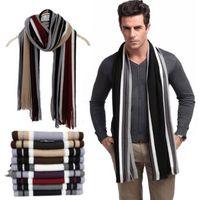 Wholesale Striped Cotton Scarves - fashion male scarfs mens winter scarves cotton striped shawls and scarves wrap, echarpes men 10 colors ATW
