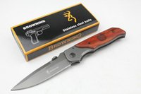 Wholesale Browning Knife Drop Shipping - Drop shipping Browning DA30 Survival folding knife 440C 57HRC Titainium finish blade knife Outdoor camping hiking rescue knife Free shipping