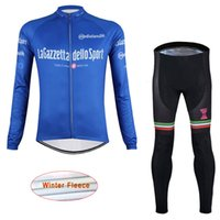 Wholesale Pro Cycling Tours - New Pro Men's Cycling Winter Thermal Fleece Jersey tour de Italy Mtb Bike Long sleeve Cycling Clothing set Ropa Ciclismo D1410