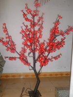 ingrosso ciliegi rossi-Liberi la nave 5ft 1.5M LED Cherry Blossom Tree luce Giardino di nozze all'aperto Christams Holiday Light Decor 480 LEDs Colore rosso opzione