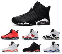 Wholesale good basket - 2018 new Infrared shoes 6s men basketball Shoe Sneakers VI black cat shoes 6 good quality free ship US size 8-13