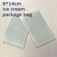Wholesale Disposable Plastic Food Packs - Transparent Plastic Ice Cream Bag Food Grade Opp Package Pouch Popsicle Cake Chocolate Baking Pack 8*14cm 100pcs lot
