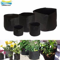 Not Coated black garden planters - 1 Gallon Soft Sided Reusable Highly Breathable Non Woven Fabric Grow Bags Flower Pot Garden Bag Planter Pouch Root Container