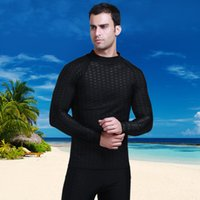Lycra Surf Rashguard Uomo Top Sharkskin impermeabile manica lunga costume da bagno Sunscreen Rash Guard Swim Surf Shirt