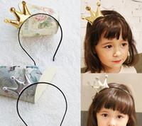 çocuk çocukları tiara toptan satış-Moda Sevimli Prenses şapkalar saç aksesuarları taç tiara hairbands çocuk çocuklar kız bebek hediye Saç Bandı Bandı