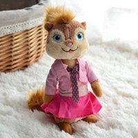 Wholesale Alvin Chipmunks Christmas - Wholesale- 16cm Plush Alvin and the Chipmunks 4 toys Brittany stuffed&plush dolls for kids Christmas Doll