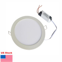 Wholesale Thin Lighting Ceilings - Ultra thin Down lights 9W 12W 15W 18W 21W dimmable LED Panel Light Recessed ceiling downlight indoor Lighting lamps warm natural cool white
