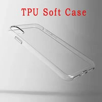 Pour Iphone X Samsung Galaxy Note NOTE8 Clear Soft TPU Case Transparent Cover Silicone Blank Skin Téléphone portable Luxury Factory Prix 100pcs