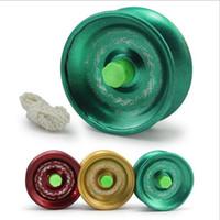 truques de yoyo 1a venda por atacado-Liga de alumínio fresco projeto de alta velocidade profissional yo-yo rolamento de esferas corda truque Yo-yo crianças magia malabarismo brinquedo