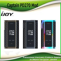 Wholesale Battery Custom - Original iJoy Captain PD270 TC BOX Mod 234W With 2 20700 Battery 6000mah Firmware Upgradeable Custom User Mode 100% Genuine 2228518