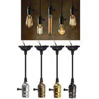 Wholesale vintage lamp sockets for sale - Group buy Antique Edison Bulb Aluminum E27 Lamp Accessories Socket Holder Vintage