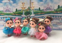 Wholesale Doll Toys For Girls - 12CM MINI DOLLS KEYRING JEWELRY DOLL TOY FOR GIRL BABY BARBIE DOLLS