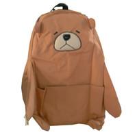 Wholesale Girls Plain Cotton Dresses - Japanese Cute Sweet Bear Backpacks for Teenage Girls Rucksack Cotton High School Book Bags A4 Cartoon Animal Kawaii Bagpack L941