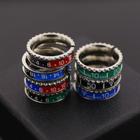 Wholesale Design Promotion Gift - Promotion Top Quality 316L titanium gear stainless steel waves speedometer ring men ring cuff designs Free Shipping PS4309