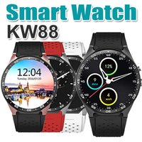 Android 5.1 AMOLED Sport Fitness Smart Watch Telefono KW88 MTK6580 2.0MP Telecamera 3G Rete Wifi GPS Cardiofrequenzimetro