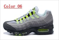 Wholesale New Style Shoes For Mens - New style Air Cushion Sports 95 Running Shoes For Men Cheap Black White Mens Trainers Sneakers Fashion Man athletic Walking training shoes