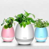 Wholesale Toy Pink Piano - Novelty Toys Creative Music Vase Smart Music Flowerpot Wireless Bluetooth Speaker Intelligent Plant Piano Music with Colorful LED Light