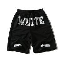 Wholesale Pyrex Kanye - 2017 new off white U.S.hip hop skateboard VIRGIL ABLOH mens Pyrex Basketball sport shorts Kanye West casual gym clothing