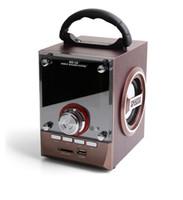 Wholesale wireless dj speakers - Speaker MS-18BT   CV-18   CV-356 LED Wood Luxury Mobile Multimedia Wireless Bluetooth Portable Speakers USB TF AUX FM Outdoor DJ Super Bass