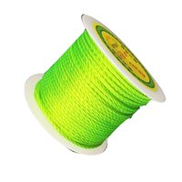 2mm Neon Green Twisted Satin Nylon Twine Cord + 50m / Roll Jóias Acessórios Macrame Rope Shamballa Bracelet Necklace String