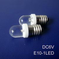 Wholesale Pilot Led Lights - Wholesale-High quality 6.3v E10 led indicator lights,E10 6v led signal lamp LED E10 led bulbs 6.3v e10 Pilot lamps free shipping 10pcs lot