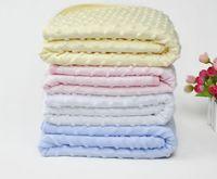 Wholesale Receiving Fleece Blankets - 75cm*100cm Fleece Baby Blanket Newborn Baby Swaddle Wrap Soft Winter Baby Bedding Receiving Blanket Manta Bebes Sleeping Bag