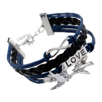 Wholesale Justin Bieber Charms - 2017 charm bracelet Fashion Lover Justin Bieber Friendly Alloy PU Leather Wax Rope Braided Bracelet For Women jewelry Gift