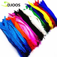 Wholesale Cheap Decoration For Home - 50 PCS Bulk Natural Rooster Feathers Colorful Cheap Feathers For Decoration Crafts Christmas Home Sale New Year Wedding Cosplay