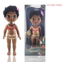 Wholesale Empty Toy - moana 16 inch empty body Mo Princess Ahna with music salon ICMoana doll doll color box XT