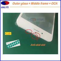 Wholesale Iphone Lcd Sticker - A++ quality Front outer glass lens + Cold press middle frame bezel + OCA sticker flim for iphone 6 6s 6p 6s plus display