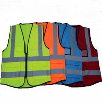 Wholesale cycle safety clothing for sale - High Visibility Clothing Clothing Safety Reflective Vest Night Work Security Traffic Cycling