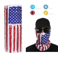 Wholesale Promotional Flags - Wholesale- Promotional USA Flag Tube Bandana Face Shield