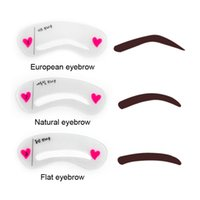 Wholesale Making Stencils - 3pcs set Eyebrow Stencils 3types Reusable Eyebrow Drawing Guide Card Brow Template DIY Eyebrow Stencils Make Up Tools 2805042