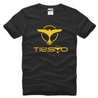 büyük boy gömlek stili toptan satış-Erkek Giyim Tiesto Baskılı erkek T-Shirt Yaz Tarzı Pamuk Kısa Kollu DJ T gömlek Adam Boy Erkek Müzik Hip hop Tshirt
