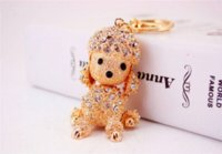 Wholesale Car Gift Items - Cute Dog Keychains Innovative Trinket Keyring For Women Men Novelty Items Car Key Chain Key Holder Birthday Gifts