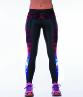Wholesale Galaxy Printed Leggings Sizes - Wholesale- New Galaxy Purple Printing Women Fitness 3XL Sport Pants Free Size Blue Galaxy Running Sport Leggings 3 Patterns LOVE SPARK