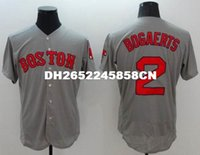 Wholesale Gray Black Jersey - Mens top quality jersey 100% Stitched 2 Xander Bogaerts Flexbase Baseball Jerseys Color gray black