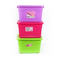Wholesale Storage Box Clothing Large - 5L Plastic Storage Box Multicolor Clothes Large Storage Boxes Box Environmentally Friendly Living room Bedroom Covered Storage Box
