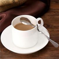 ingrosso cucchiai intrecciati-Tea Coffee Honey Drink Adorable Acciaio inossidabile curvo contorto Manico a cucchiaio U manico V impugnatura Jam Cucchiai