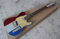Wholesale Top quality signatur telecaster electric guitar three color metal particles