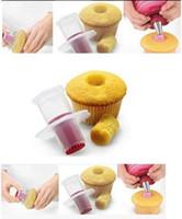 muffin de plástico venda por atacado-Arte ecologicamente correta bolo Ferramentas Plastic Kitchen Cupcake muffin Ferramentas bolo Corer êmbolo Pastelaria Decoração cortador Modelo Ferramenta cor aleatória bolo