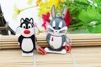 Wholesale Cartoons Pendrive 4gb - Animal Daffy Duck Bugs Bunny Crow Lion cat pendrive 4GB 8GB 16GB 32GB USB Flash Drive U Disk cartoon Memory Stick Gift
