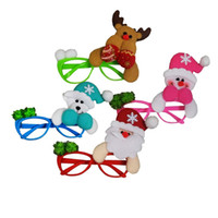 Wholesale glass reindeer - New design glass frame Xmas party decoration props Christmas ornament Santa Claus Reindeer snowman bear toys wholesale price
