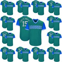 Wholesale Baseball Brother - 15 Kyle Seager Corey's Brother 2017 Little League World Series Players Weekend Cano Cruz Jarrod Dyson Jean Segura Seattle Mariners Jersey