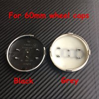 Wholesale Centre Wheel Caps Cars - 2000pcs New Car Styling 60mm Grey Black Hub wheel Centre Cap Caps Cover Badge Emblem #4B0601170 For Audi RS4 S3 S4 A3 A4 A6 A8 TT