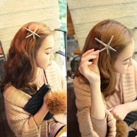 Wholesale Cheap Folders - Cheap Hair Accessory Selling Jewelry Wholesale Retro Metal Starfish Hairpin Duckbill Folder Five - pointed Spring Spring Hair Headgear